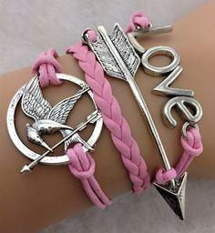 Hunger+games+bracelet+arrow+braceletlove+by+KISSACASE+on+Etsy,+$5.99