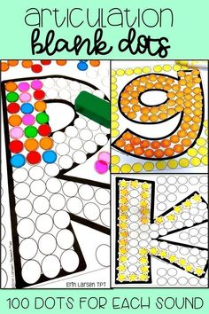 Articulation dots. Easy. No prep. Motivating. Great for homework. Use tokens, erasers, or dot paint to get 100 trials. Easy everyday articulation resource! Students will love this fun articulation activity.
