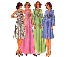 70s High Waisted Maxi Dress Pattern by allthepreciousthings