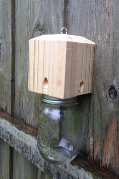 Carpenter Bee Traps....Bottle or Mason Jar (NOT INCLUDED)