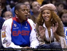 New Jersey Nets vs. Beyonce Knowles Carter, Beyonce And Jay Z, Indiana Pacers, New Jersey, Black Celebrities, Celebs, Black Celebrity Couples, Beyonce Style, Bonnie Clyde