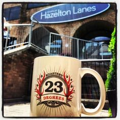 Shops at Hazelton Lanes in Yorkville! Can you guess which store here sells our coffee? #23degreesroastery #23drmug #Toronto #coffee #local #Yorkville #WFM #shopsathazeltonlanes #sunnyday #GTA #thursday