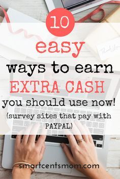 survey sites that pay | make extra money from home | side hustles that pay | online work from home