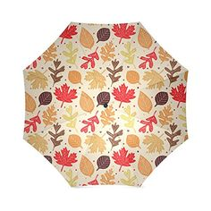 Custom Personalized Foldable Umbrella Design Colorful leaves pattern Picture RainySunny windproof Stainless Steel Frame Antibreak Diy Umbrella -- Check out the image by visiting the link.