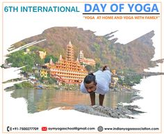 6th International Yoga Day. This year we will celebrate it from our houses. YOGA  AT HOME AND YOGA WITH FAMILY #yoga #yogaday #yogaday2020 #IYD2020 #Rishikesh #India #AYMYogaSchool
