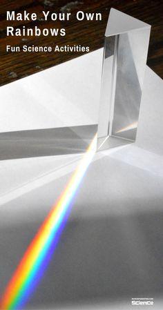 Rainbow Making Science Experiment #STEMActivities #Kids