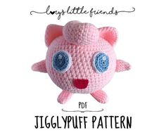 This is a PDF crochet pattern, NOT an actual Jigglypuff as shown on the pictures.  In this crochet pattern I show you how to crochet your very own Jigglypuff. It is about 14 cm tall, depending on the yarn you use.  The crochet pattern is made for beginners as well as for advanced crochet lovers. It gives you a step by step instruction with every stitch written down for you. There are additional pictures to give you an even better explanation.  The following languages are available: english…