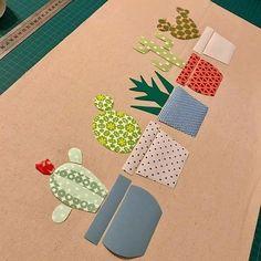 Nifty Crafts, Felt Crafts Diy, Paper Crafts, Applique Templates, Applique Patterns, Cactus Cushion, Sewing Toys, Mug Rugs, Diy Wall Art