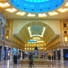Shopping mall in Doha, Qatar. Doha, Shopping Mall, Holiday Destinations, Maldives, Arcade, Tours, Android Phones, Mansions, Architecture