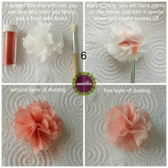 Wafer Paper Pompom Flower Tutorial - CakesDecor
