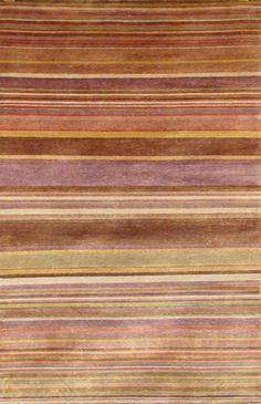 modernrugs.com brown tan cream yellow pink purple striped rug