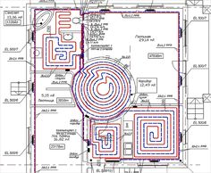 Схема проекта теплого водяного пола