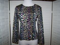 Missoni Italy Light Weight Pure New Wool Graduating Leaves Sweater Size M | eBay