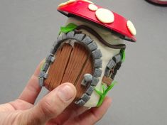 Crafter Transforms An Ordinary Jar Into A Stunning Fairy House For His Garden Clay Fairy House, Fairy Houses, Creative Writing Degree, Polymer Clay Fairy, Clay Fairies, And Just Like That, Air Dry Clay, Cold Porcelain, Clay Projects