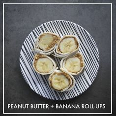 Peanut Butter & Banana Roll-ups // shutterbean