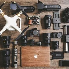 Gear sweet #gear 😘 #awesome collection and #flatlay by @blackmountaincinema #sonyalpha #dji #a7s #sonya7