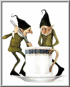 puzovok: Erle Ferronniere и Jean-Baptiste Monger Tea time with elves