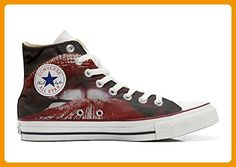 Converse All Star Hi Customized personalisierte Schuhe (Handwerk Schuhe) Back Groud Paisley