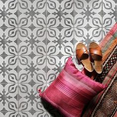 Petra Tile Stencil - Tile Stencils for Painting Ceramic Tiles – DIY Tile Floor Stencils – Royal Design Studio Stencils - Damask Wall Stencils, Moroccan Wall Stencils, Stencil Wall Art, Wall Stencil Patterns, Stencil Fabric, Wallpaper Stencil, Stencil Painting On Walls, Stencil Designs, Tile Patterns