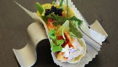 Taco de bogavante huerta y mar de Carme Ruscalleda   Gastronomía & Cía