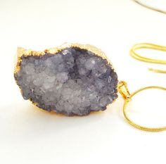Purple Amethyst Edged Dipped Gold Druzy Pendant / by BijiBijoux, https://www.etsy.com/listing/72828422/purple-amethyst-edged-dipped-gold-druzy?ref=shop_home_active_19