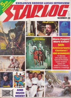 1981 Starlog No. 48 5th Anniversary Spectacular Issue, Science Fiction Classic #Starlog