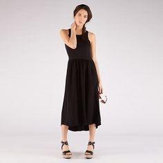 Dual-fabric dress
