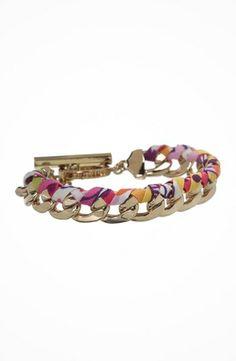 Vera Bradley Braided Chain Bracelet #accessories  #jewelry  #bracelets  https://www.heeyy.com/vera-bradley-braided-chain-bracelet-clementine/