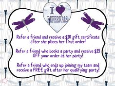I love referrals graphic for VIP Facebook group or party. Thirty-One spring/summer 2018 www.mythirtyone.ca/sabrinawhite Thirty One Games, Thirty One Party, Business Desk, Thirty One Business, Direct Selling, Direct Sales, Thirty One Facebook, Norwex Party, 31 Party