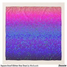 Square Scarf Glitter Star Dust