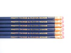 Pretty Things & Clever Words Pencils Navy by AmandaCatherineDes