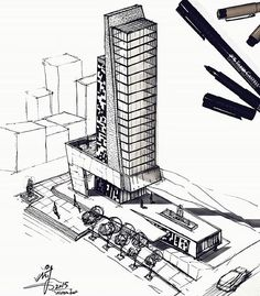 By @mj_architect #sketch_arq #notwar