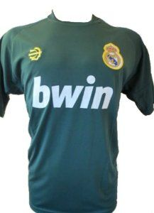 """REAL MADRID SOCCER JERSEY SIZE LARGE. NEW by MERKUR. $19.95. NEW. SOCCER. LARGE. JERSEY. GREAT QUALITY. REAL MADRID SOCCER JERSEY   YOU MUST ADD THIS ONE TO YOUR COLLECTION !!!!  SIZE USA LARGE 22""""ARMPIT TO ARMPIT BY 29"""" FROM NECK TO BOTTOM.  THIS JERSEY IS AWESOME. GREAT DETAILS. COLLECTORS ITEM.  MADE DURABLE, BREATHABLE POLYESTER (100%).  EMBROIDERY SOCCER TEAM LOGO.  NO NAME OR NUMBER ON BACK OF THE JERSEY.  THIS JERSEY HAS AN ELEGANTLY SLEEK DESIGN WHICH MAKES IT PERFEC..."""