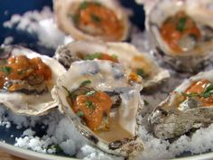 Grilled Oysters with Fra Diavolo Sauce from FoodNetwork.com ~ Bobby Flay