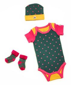 Look what I found on #zulily! Green Jesse Bodysuit Set - Infant #zulilyfinds