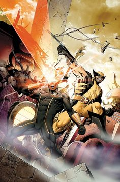 Scott Summers and James Howlett Cyclops and Wolverine by Carlos Pacheco