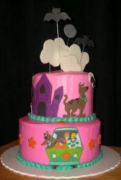 Pink & Purple Scooby Doo cake