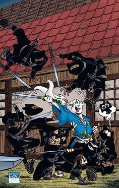 Usagi Yojimbo - Art and cover by Stan Sakai Comic Book Characters, Comic Books Art, Book Art, Akira, Dbz Manga, Usagi Yojimbo, Dark Comics, Couple Cartoon, Classic Comics