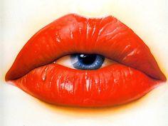 Fancy - Modern surrealism - Put your eyes where your mouth is Lip Art, Lipstick Art, Mode Pop, Modern Surrealism, Beautiful Lips, Surreal Art, Red Lips, Orange Lips, Collage Art