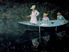 The Boat at Giverny - Claude Monet  1887