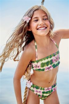 Next Khaki Printed Bikini (3-16yrs) £12.50