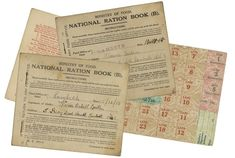 size: Photographic Print: Rationing National Ration Books from the Ministry of Food : Food Rations, Teacher Costumes, New Law, World War One, Women In History, Meals For One, School Projects, Ministry, Ephemera