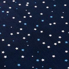 Delikatna tkanina bawełniana w gwiazdki. Tkanina wykonana ze100% bawełny, owysokiej