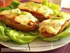 Bagetková pizza - recepty Pizza, Eggs, Breakfast, Food, Morning Coffee, Egg, Meals, Yemek, Eten