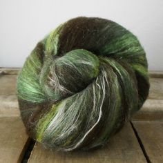 Spinning Wool Fiber Shades of Green and Dark by inspirationfibers, $9.00