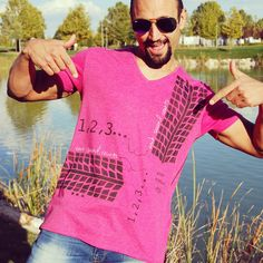 Men's cool handmade Tshirt design #mensfashion #pink #mensclothing #ecofashion #handmadeinspain