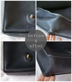 how to repair purse, fixing old leather, coach repair, leather fix up Handbags On Sale, Coach Handbags, Coach Purses, Luxury Handbags, Purses And Handbags, Designer Handbags, Coach Hobo, Ladies Handbags, Popular Handbags