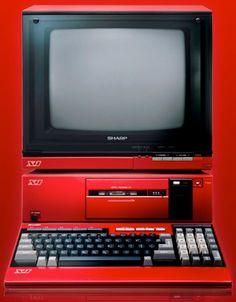 The Sharp Computer with Cassette Player Alter Computer, Home Computer, Gaming Computer, Computer Technology, Computer Science, Affordable Laptops, 8 Bits, Computer Hardware, Retro Futurism