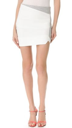 Nicholas Ponte Fleece Paneled Skirt