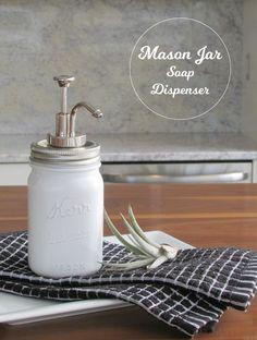 Milk Glass Soap Dispenser DIY